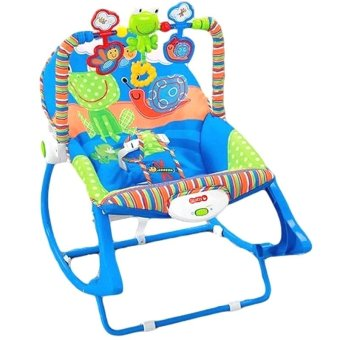Harga Baby 68110 Infant To Toddler Rocker Frog Design (Blue/Green)