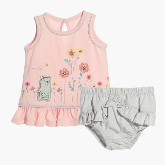 Harga Hush Hush Girls Bear's Flowers Top and Panty Set (Pink)