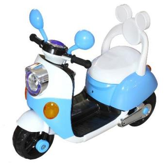 Harga 3 Wheeled Electric Powered Ride On Scooter for Kids (Blue/White)