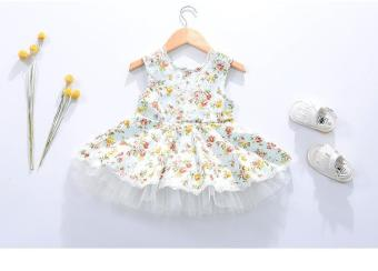 Summer Kids Baby Girl Sleeveless Floral Dress - intl Price Philippines