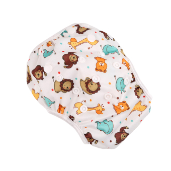 Harga HengSong New Adjustable Size Waterproof Reusable Baby Swimming diapers Lion