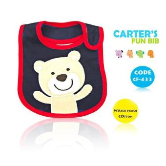 New 2017 BEST STORE BABY SHOP Carter's Bow Suit Baby Feeding Bib 433 (Blue) Price Philippines