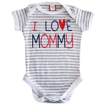 I Love Mommy Gray and White Stripes Onesie Price Philippines