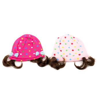 Harga Sophie Polka Dots with Synthetic Hair Bonnet set of 2