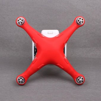 For DJI Phantom 3 Drone Waterproof Dustproof Scratchproof Silicone Protective Red - intl Price Philippines