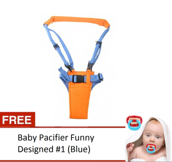 Harga Moby Baby Moon Walker Safety Harness With Free Baby Pacifier Funny Designed #1 (Blue)