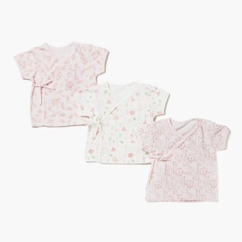 Harga Hush Hush Girls Animals Tie-side Tee Set (Multicolored)