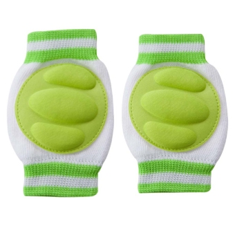 Multicolor Knited Warm Cotton Stretchy Kneelet Safety Accessory for Babies (Green) Price Philippines