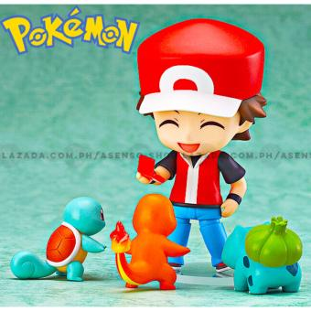 Pokemon Ash Ketchum Customizable Collectible Action Figure with Charmander Bulbasaur and Squirtle Starter Pokemon Price Philippines