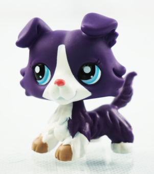 Harga 2'' Purple Collie Dog White Animals Blue Eyes Kids Toys Littlest Pet Shop LPS 1676 Puppy - Intl