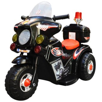 Harga C&C TC-005 Rechargeable Motor Bike Kids Ride-on Toys Police Motorcycle (Black)