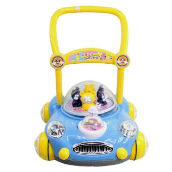 Baby Walker Push Toy Car design with Music (Blue) Price Philippines