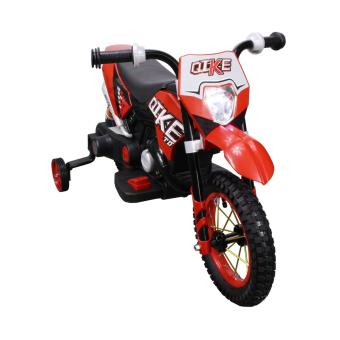 Harga Qike Electric Kids Ride On Dirt Bike Motorcycle (Red)
