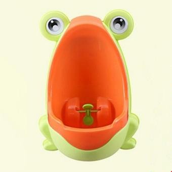 Harga MOON STORE Baby stand upright child toilet Frog: yellow orange mouth frog - intl