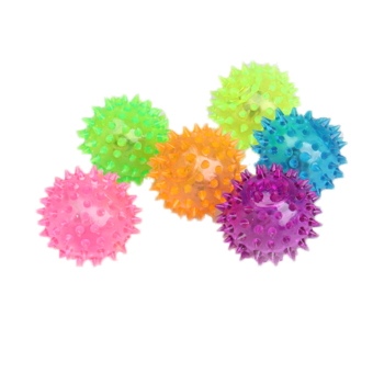 Harga Flashing Light Up Spikey High Bouncing Balls Novelty Sensory Hedgehog Ball