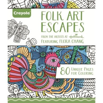 Harga CRAYOLA Folk Art Escapes Coloring Book