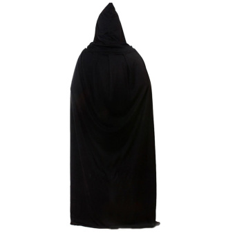 Harga Death Devil Wicca Robe Hoody Cloak Long Tippet Cape for Adult Male Female Halloween Costume Theater Fancy Dress Prop