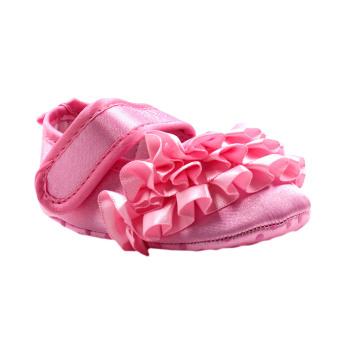 BABY STEPS Flossy Ruffles Baby Girl Shoes (Pink) Price Philippines