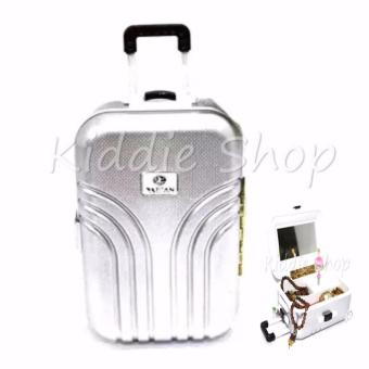 LUGGAGE/SUITCASE MUSIC BOX/JEWELRY BOX (SILVER) Price Philippines