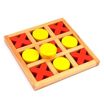 Harga Tic Tac Toe Wooden Toy - Small (Red/Yellow)
