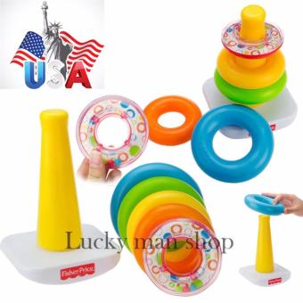Harga USA Fisher-Price Brilliant Basics Rock-a-Stack