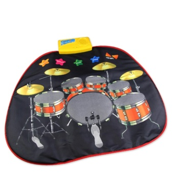 Infant educational instrument drum set childs baby music toy musical toys instruments for children kids play mat babies keyboard - intl
