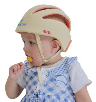 Infant Toddler Safety Helmet Baby Head Protection Hat for Walking(Beige) - intl