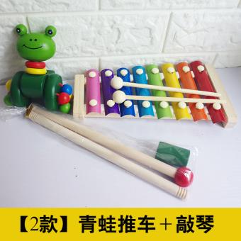 Infants children's development clock hand knock piano