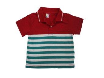 Infant's Polo Shirt No.1028-Stripe C (Red)