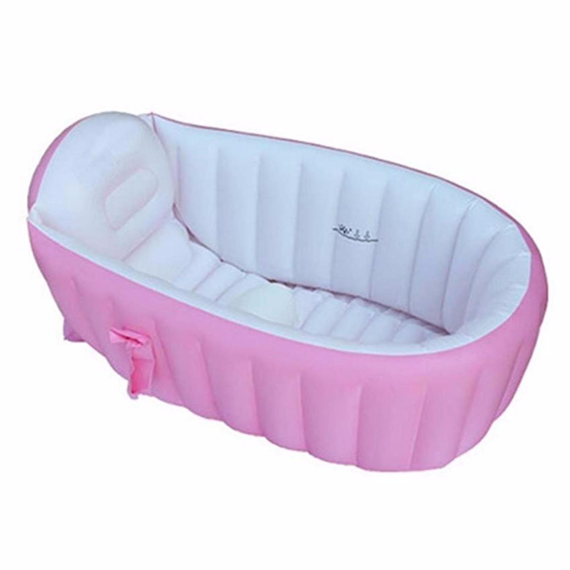 Inflatable Baby Bath Tub (Pink) | Lazada PH