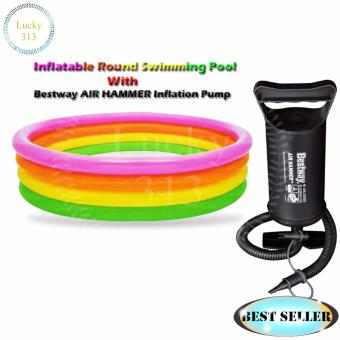 Inflatable Round Swimming Pool With Bestway AIR HAMMER (TM) InflationPump