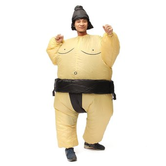 Inflatable Sumo Wrestler Fancy Dress Costume Fat Suit Hen Stag Night Outfit - intl - 2