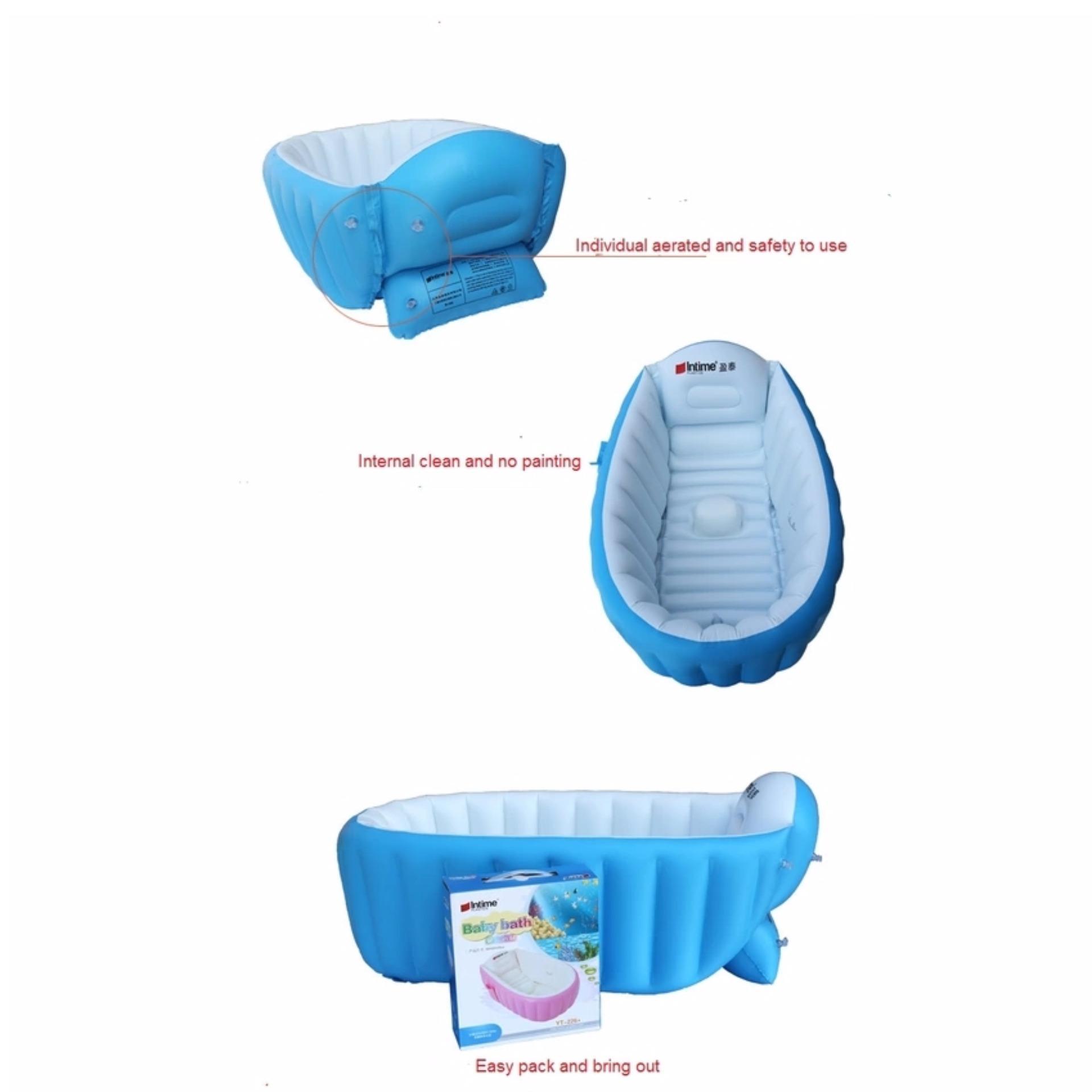 Philippines | Intime Baby Bath Tub Portable Bathtub (Blue) with Free ...