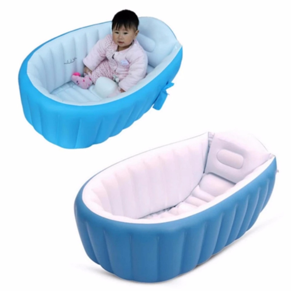 Intime Plastic Baby Inflatable YT-226A Bath Tub (Blue) | Lazada PH