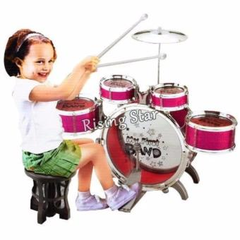 Jazz Drum Set With Chair Musical Toy Instrument for Kids NO. 4008E - 2