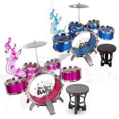 Jazz Drum Set With Chair Musical Toy Instrument For Kids NO 4008E