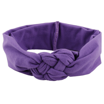 Jetting Buy Baby Girl Knotted Hair Band Purple - picture 2