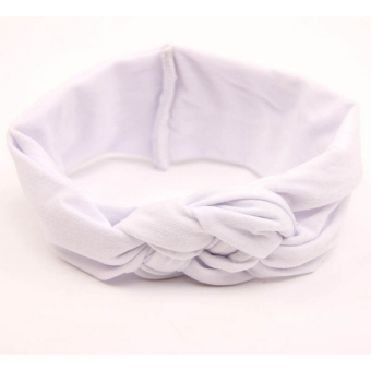 Jetting Buy Baby Girl Knotted Hair Band White