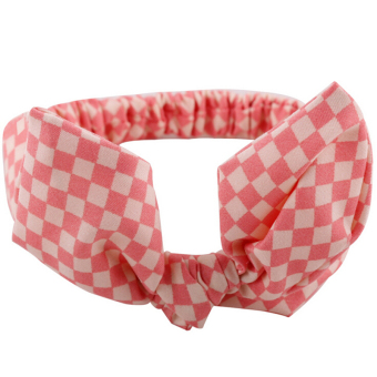 Jetting Buy Baby Headband Bow Elastic Pink Grid