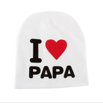 Jetting Buy Kids Hat Knitted Cotton Toddler I LOVE PAPA MAMA White I Love Papa