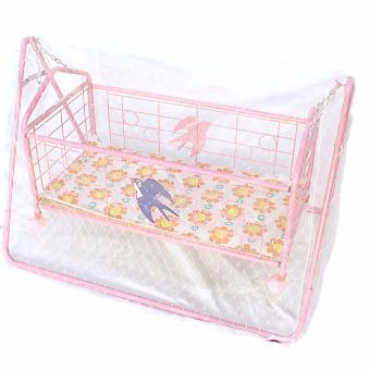 JH Baby Cradle Rocking Crib Bassinet Bed Sleeper Portable Nursery(Blue) with Mosquito Net - 2