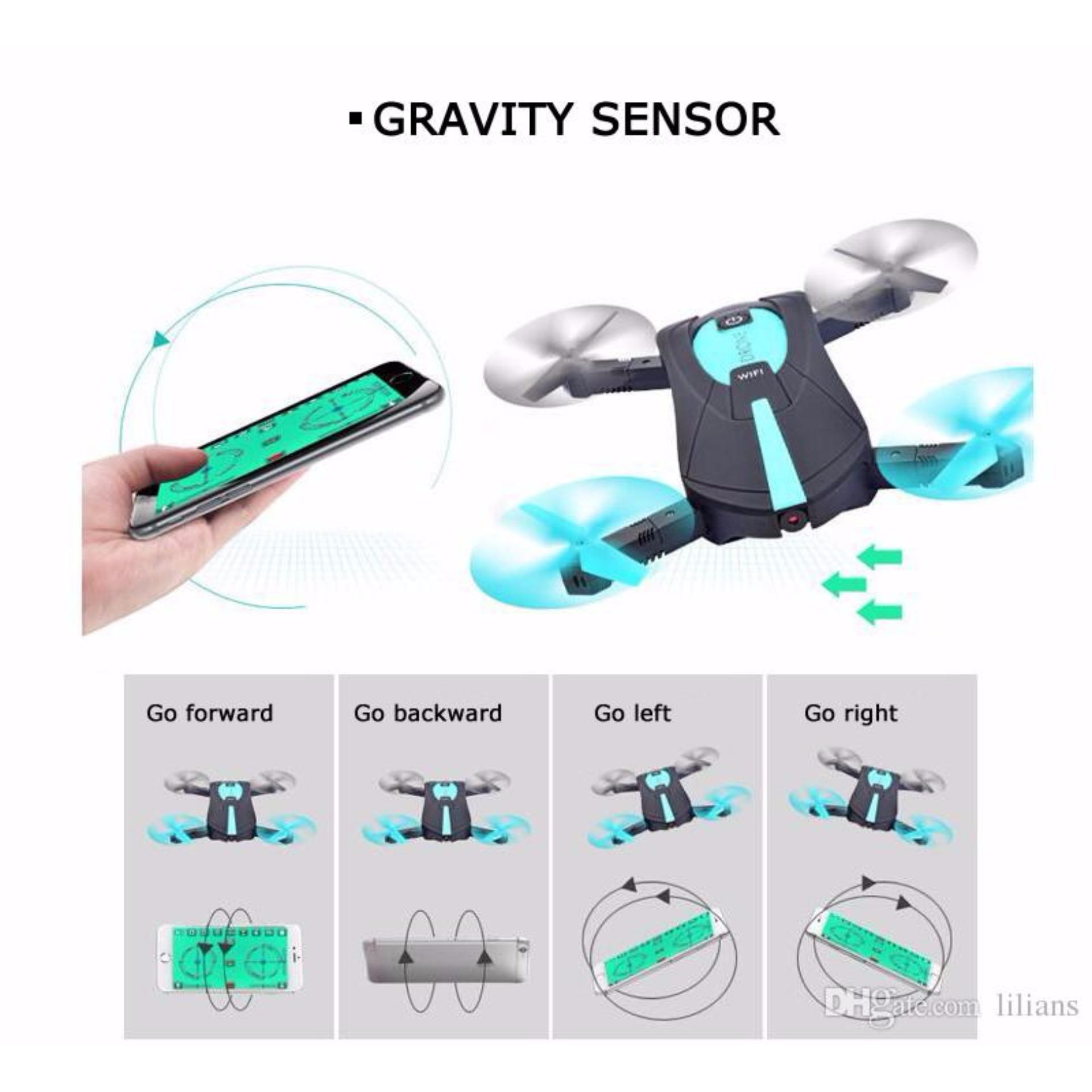 JY018 Portable Elfie Pocket Wifi FPV Gravity Air Mini Drone