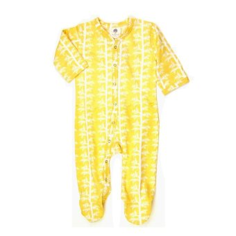Kate Quinn Organics Classic Footie Branches (Yellow)