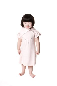 Kate Quinn Organics Peony Short Sleeve Lounge Dress (Light Pink) - picture 2