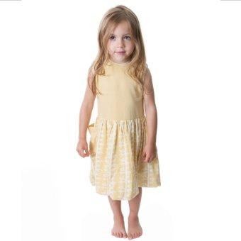 Kate Quinn Organics Piped Cargo Bubble Dress (Yellow)