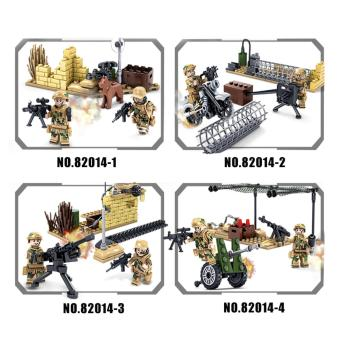Kazi KY82014 4sets/lot Military Army Signal Corps Soldiers Mini Figures Building Blocks Bricks Enlighten Toys For Children