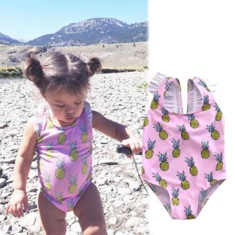 Kid Baby Girls Ananas Bikini Suit Set Swimsuit Swimwear Bathing Swimming Clothes