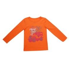 kid boy tshirt orange high elasticity jeep letter printed tshirt intl