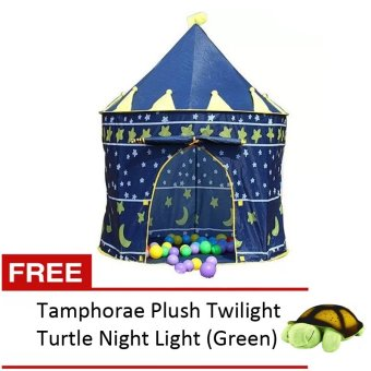 Kiddie Castle Tent (Blue) with FREE Amphorae Plush Twilight TurtleNight Light (Green) Price Philippines