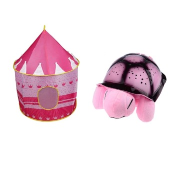 Kiddie Castle Tent (Pink) with Amphorae Plush Twilight Turtle NightLight Price Philippines